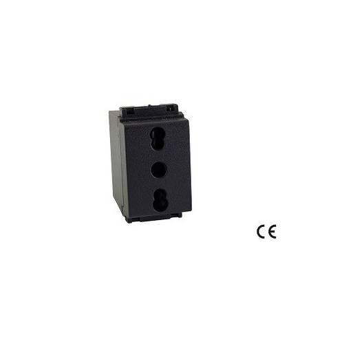 Standard Bivalent Safety Bypass Socket 2P + E 10 / 16A 52487 Maurer