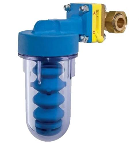Polyphosphate Dispenser with Stop Valve