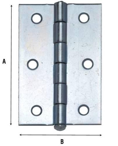 Heavy Half Hinged Hinge with Lifting Pin Art.840 Aldeghi