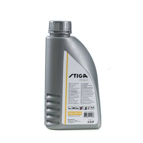 Oil SAE 30 Blend and Petrol for Lawnmowers 4T 600 ml Stiga