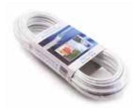 Clotheshorse Cable Brass White PVC mm.5x20mt
