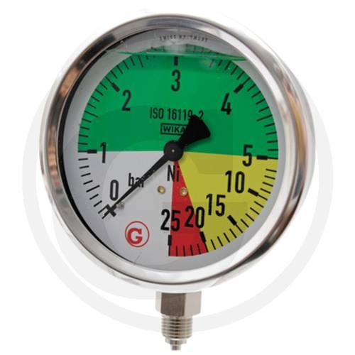 """Glycerine Pressure Gauge 0- (1) -5-20-25 Bar 1/4 """"67001-00014 Wika"""