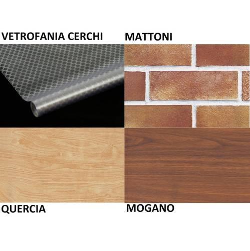 Plastic Adhesive Effect Wood Bricks Window Sticker Maurer cm.45