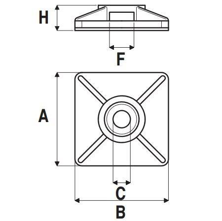 Adhesive base for Elematic Ties