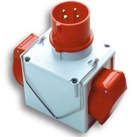 Manufactured products from Double adapter plug 3P + T 16A Red EEC Fanton 73111