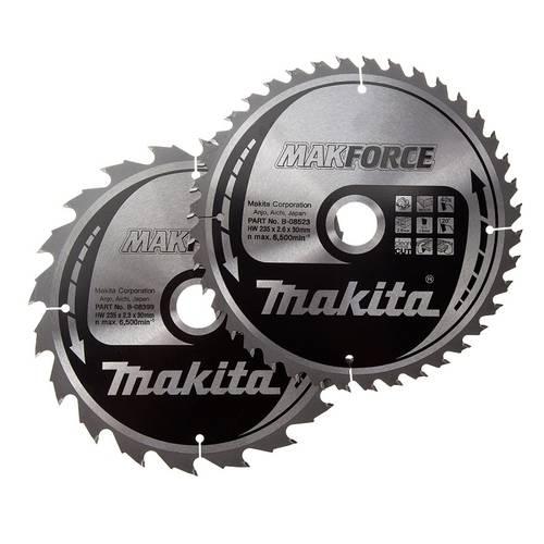 2 x Sega Circolare 24D + 40D 165x20 mm B-49317 Makita
