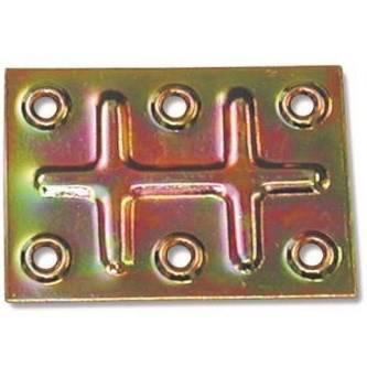 Joining plate Six Holes 70x50x1mm Art.642 Minutex