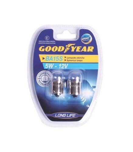 Spherical Halogen Bulbs for Car Lights 5W 12V BA15S 77027 Goodyear