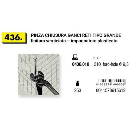 Pliers for Hooks Net Big ø9,3mm Art.436 Mundial
