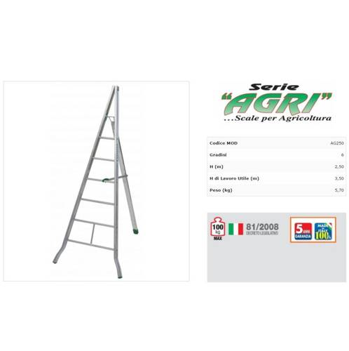 Scala for Agriculture Agri mt.2,50 6 Steps Facal AG250