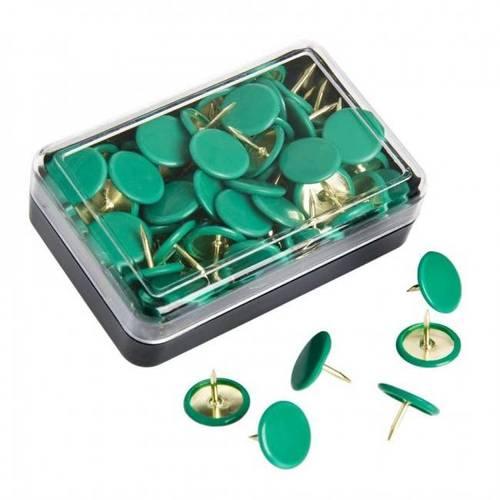 Green Drawing Pins 70 pcs 51844 Maurer