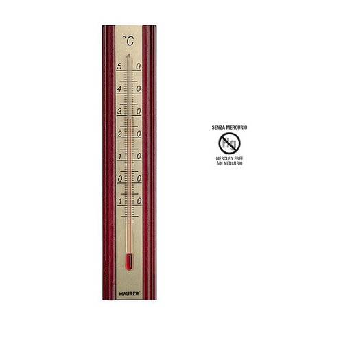 Wooden Wall Thermometer for Interior Without Mercury 95321 Maurer
