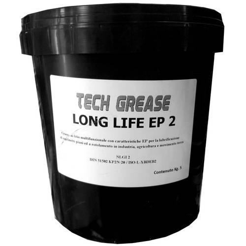 Grasso CUSCINETTI Techgrease Long Life Ep2 Kg.5