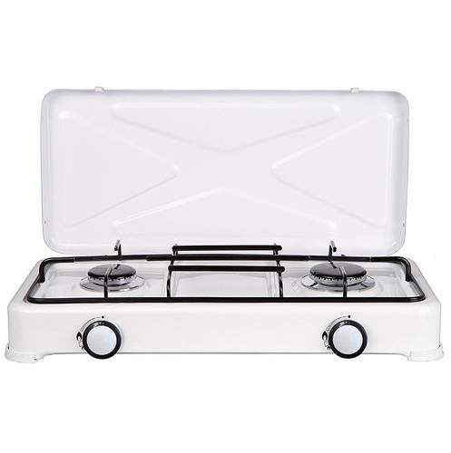 Gas Cooker with 2 White Fires