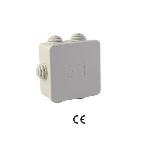Watertight Junction Box 6 Cable glands 8x8x4 cm IP44 52303 Maurer