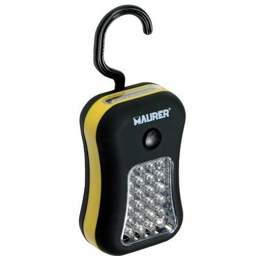 24 + 4 LED Flashlight with Magnet and Hook 093770 Maurer