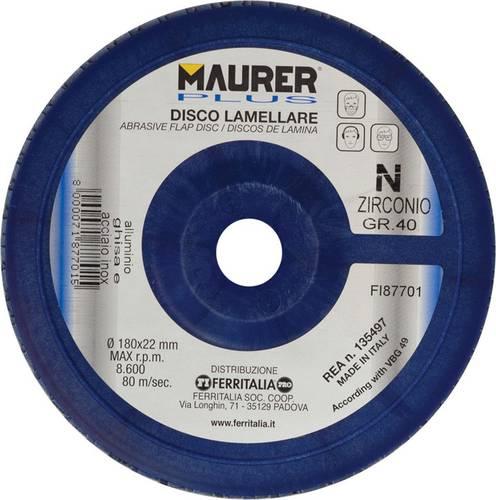 Lamellar Disc Zirconium mm.178x22 Gr.40 087701 Maurer