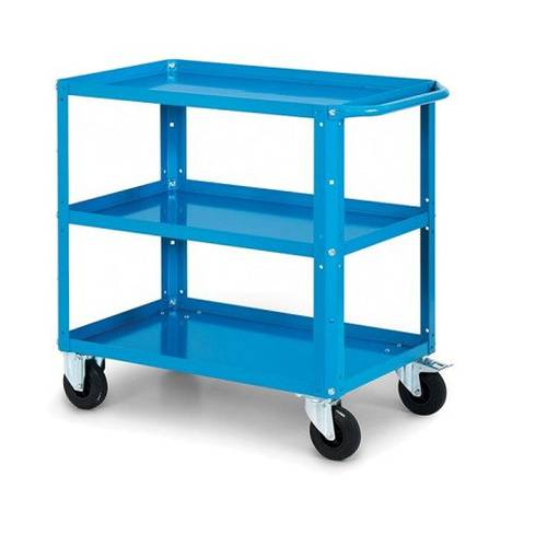 Trolley for Warehouse with 3 Shelves CLEVER LARGE Capacity 300kg 1024x615x847mm 08019 Fami