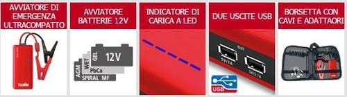 Starter Portable Drive 9000 Ultra-compact 12V Telwin 829565