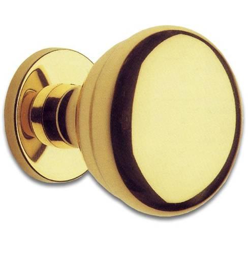 Polished Brass knob 70 mm