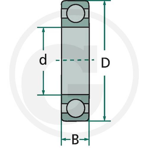 Deep Groove Ball Bearing 6203-2RS Granit
