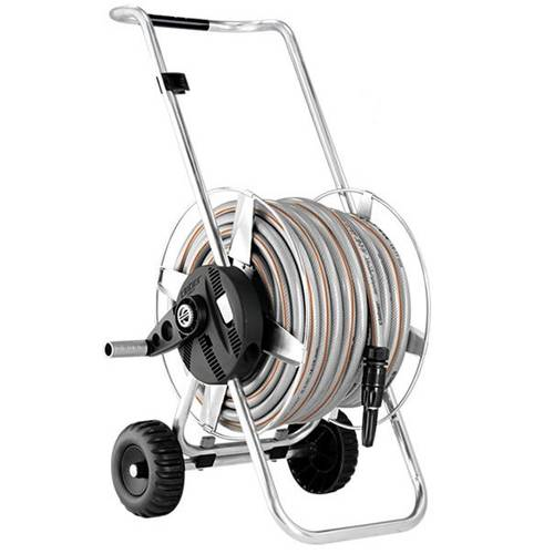 Hose reel cart with Metal Ready Compact 25 8906 Claber