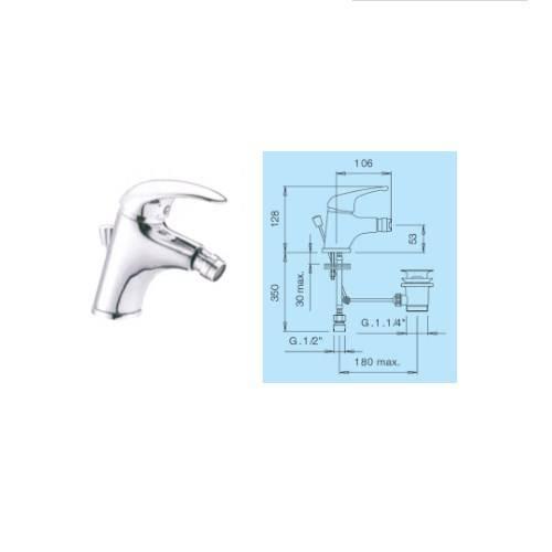 1.1 / 4 Bidet Mixer Faucet