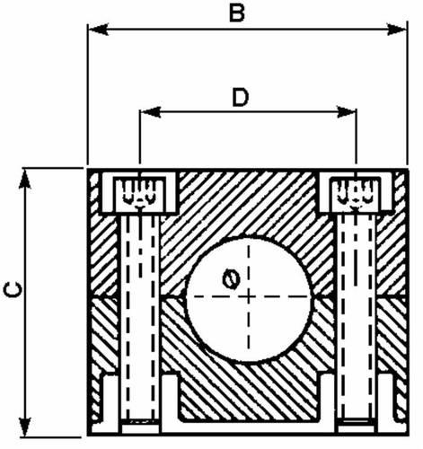 1-post pipe stop block