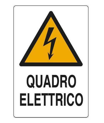 "Danger Aluminum Sign ""Electrical Panel"" cm.20x30"
