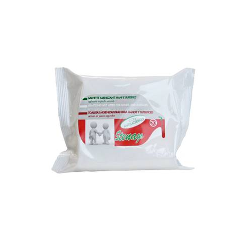 Stenago Disinfectant Sanitizing Wipes 20pcs Hands and Surfaces
