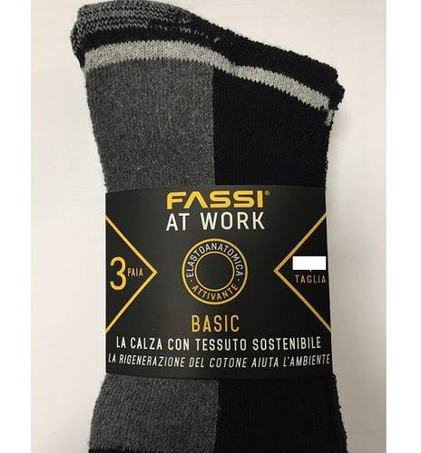 Socks 3 Pairs in Resistant Winter Reinforced Cotton 39-42 / 43-46 Fassi at Work