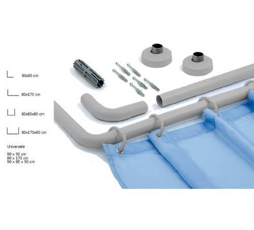 Saniplast Chromed Aluminum Hold-Up Shower Tubing