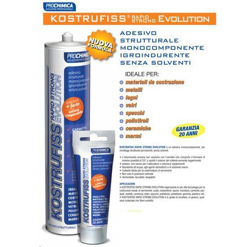 Adesivo Strutturale Kostrufiss Rapid Strong Evolution Prochimica