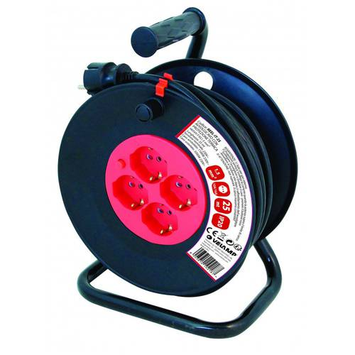 Cable Reel 4 Sockets 230V H05VV-F3G1.5mm2 1100W-3200W Velamp