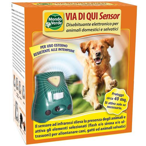 Disabituant Apparatus for Dogs Via di Qui Sensor Mondo Verde
