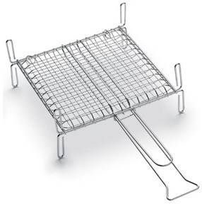 Stainless steel grid with feet cm.40x28