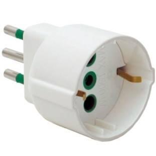Simple Italian adapter plug 2P + T 10A S11 Fanton 82120
