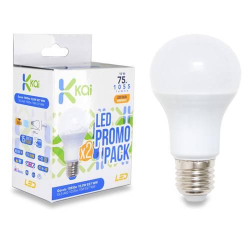 2 LED Bulb Drop E27 Warm Light 3000K 1055 Lumen Kai