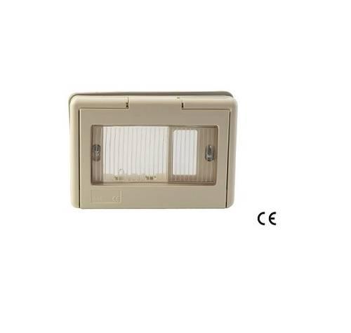 Schuko Recessed Support 1 Seat IP44 with Window Door BASIC 52369 Maurer