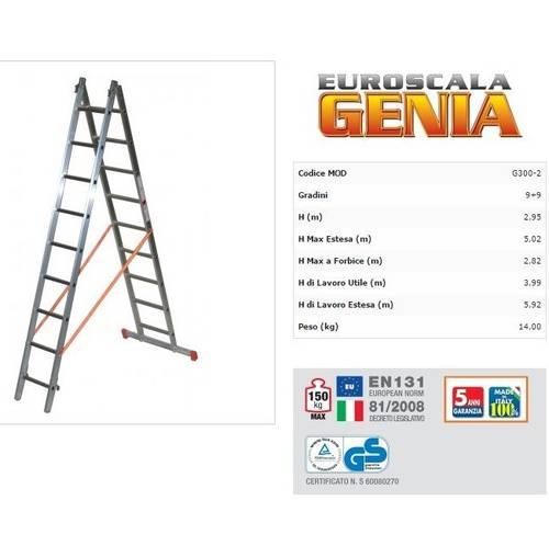 Scala Trasformabile Genia 2 Rampe G300-2 Word