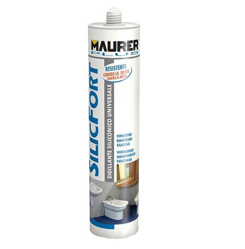 Silicone Universal Acetic Sealant SilicFort 2000 Black 280ml 81253 Maurer