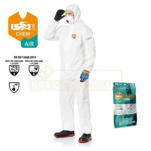 Disposable Protective Suit CAT.III TYPE 5-6 Art.08288 Issa
