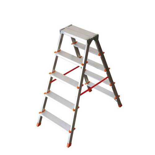 Double Staircase Ascent 5 + 5 Steps in 1.17m Aluminum Wire FI-5 Facal