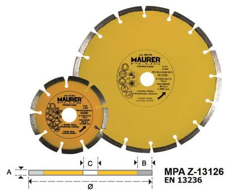Diamond Blade Segmented Crown mm.230 086744 Maurer