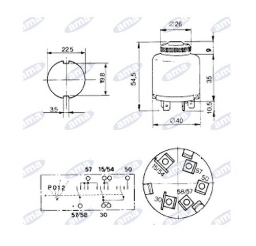 Starter Panel and Lights 4 Key Positions Art.00414 Ama