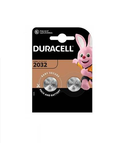 2 x Duracell 3V CR2032 Lithium Button Battery