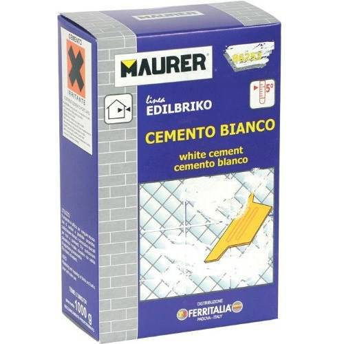 White Cement Powder 1kg Maurer 86253