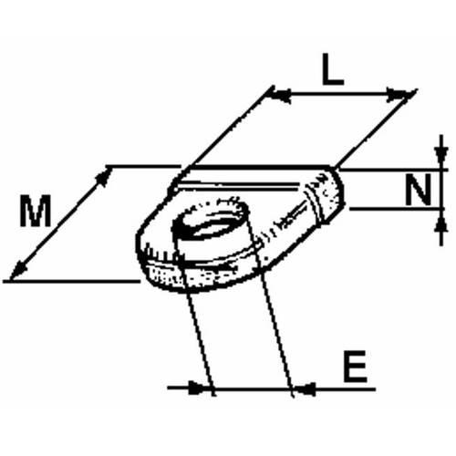 Eyebolt for closure Ball