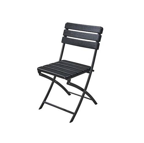 Folding Outdoor Garden Chair in HDPE Wood Effect 55X46X81 cm Papillon