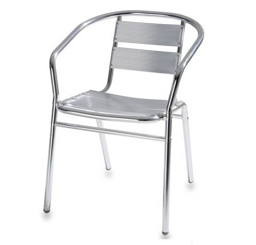 Stackable Aluminum Tube Outdoor Chair 54x59 H74cm 780/47 Bacchi